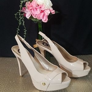 Beige Guess High-heeled Shoes